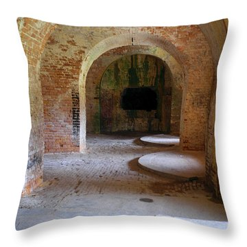 Ft. Pickens Interior 3 Throw Pillow