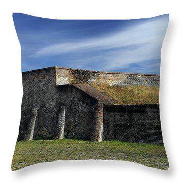 Ft. Pickens Moat Throw Pillow