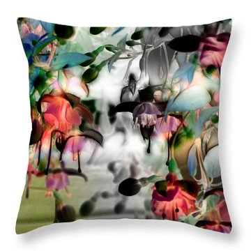 Fuchsia Abstract Throw Pillow by Stuart Turnbull