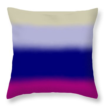 Fuchsia And Blue - Sq Block Throw Pillow
