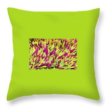 Fuchsia And Green -- Aloha Ground Cover Throw Pillow