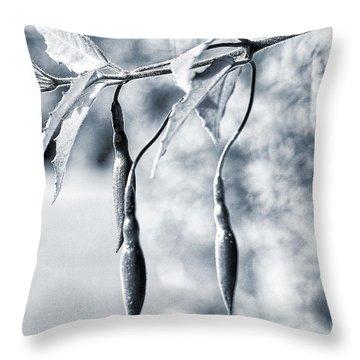 Fuchsia Bud Throw Pillow by Keith Elliott