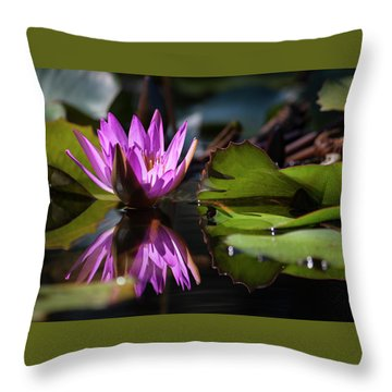 Throw Pillow featuring the photograph Fuchsia Dreams by Suzanne Gaff