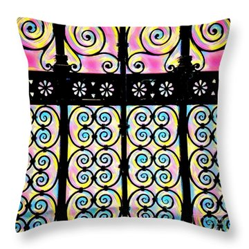 Fuchsia Gate  Throw Pillow