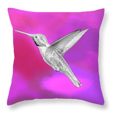 Fuchsia Jewel Throw Pillow by David Millenheft
