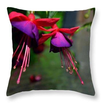 Fuchsia Original Photo Throw Pillow