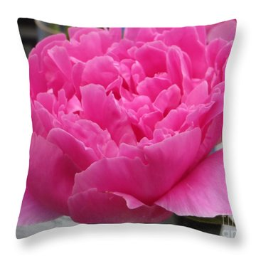 Fuchsia Peony Throw Pillow