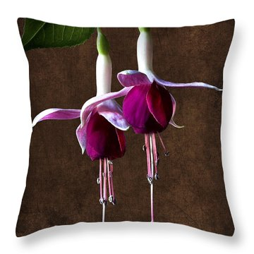Fuchsias 2 Throw Pillow