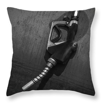 Fuel Nozzle Throw Pillow by Ray Congrove