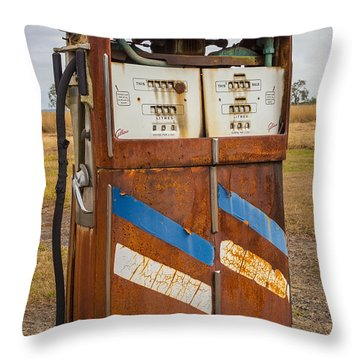 Throw Pillow featuring the photograph Fuel Pump by Keith Hawley