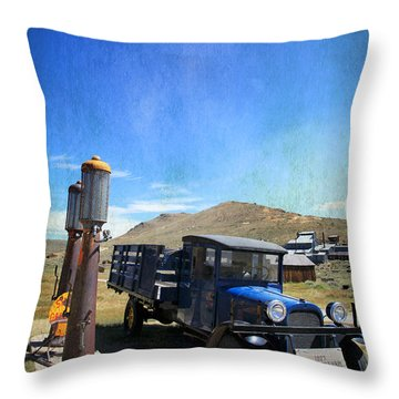Fuelin' Up Throw Pillow by Laurie Search