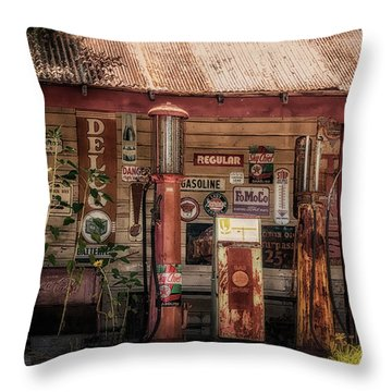 Fueling America Throw Pillow