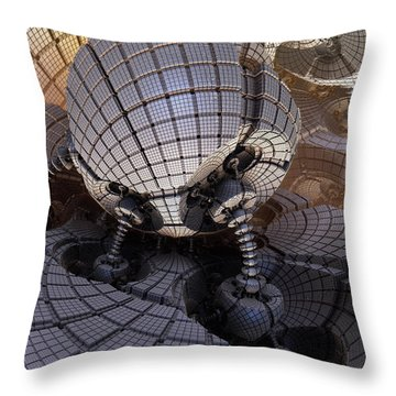 Throw Pillow featuring the digital art Fueling Station On Alpha I by Richard Ortolano