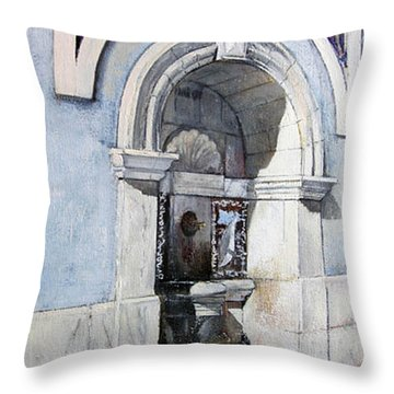 Fuente Castro Urdiales Throw Pillow by Tomas Castano