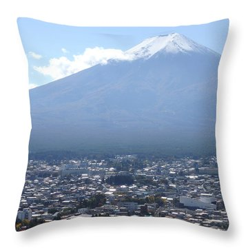 Fuji From Churei Tower Throw Pillow