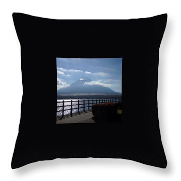 Fuji From Lake Yamanaka Throw Pillow