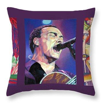 Full Band Set Throw Pillow by Joshua Morton