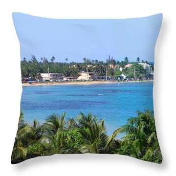 Full Beach View Throw Pillow