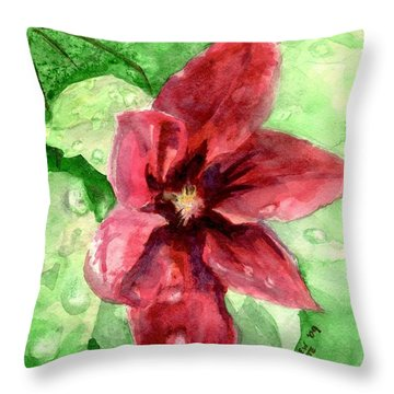 Full Bloom Throw Pillow by Andrew Gillette