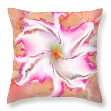 Throw Pillow featuring the digital art Full Bloom by Richard Ortolano