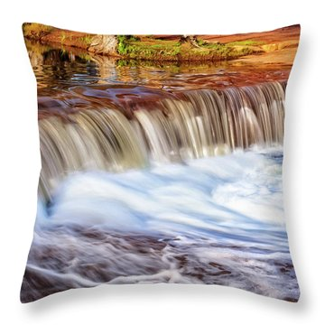 Full Flow, Noble Falls, Perth Throw Pillow by Dave Catley