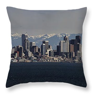 Full Frontal Seattle Throw Pillow by James Heckt