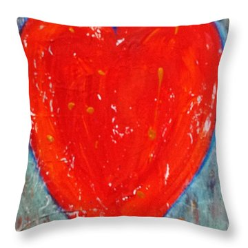 Throw Pillow featuring the painting Full Heart by Diana Bursztein