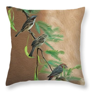 Throw Pillow featuring the photograph Full House Op17 by Mark Myhaver