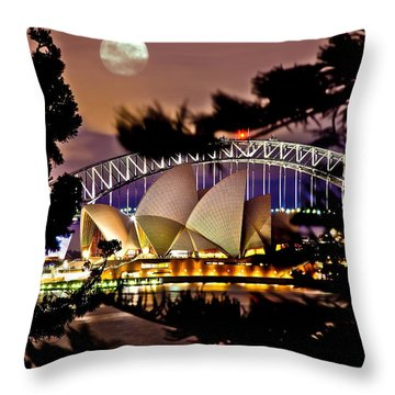 Sydney Harbour Throw Pillows