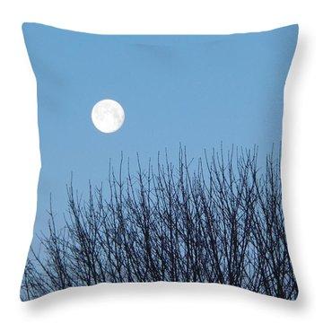 Full Moon At Dawn Throw Pillow