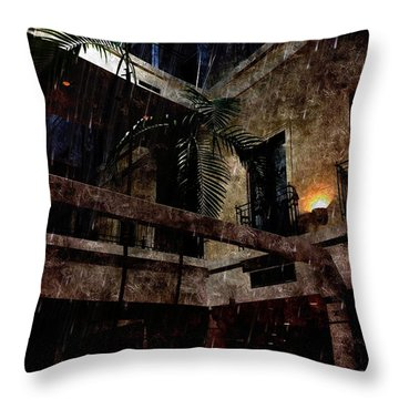 Full Moon At Tremont Toujouse Bar Throw Pillow