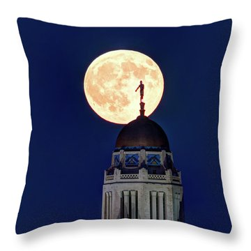 Full Moon Before The Eclipse Throw Pillow