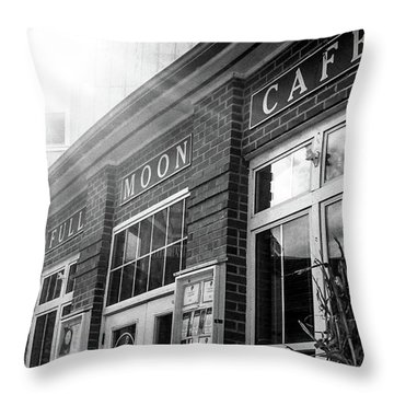 Full Moon Cafe Throw Pillow by David Sutton