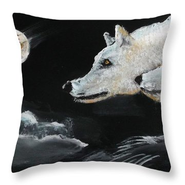 Full Moon Throw Pillow by Carole Robins