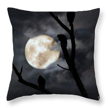 Full Moon Committee Throw Pillow