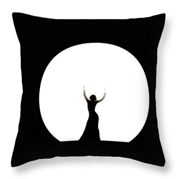 Full Moon Dance Throw Pillow