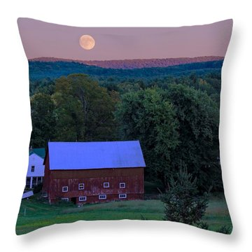Full Moon From High Street Throw Pillow