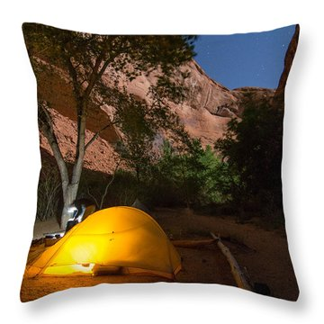 Full Moon In Coyote Gulch Throw Pillow
