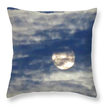 Full Moon In Gemini With Clouds Throw Pillow