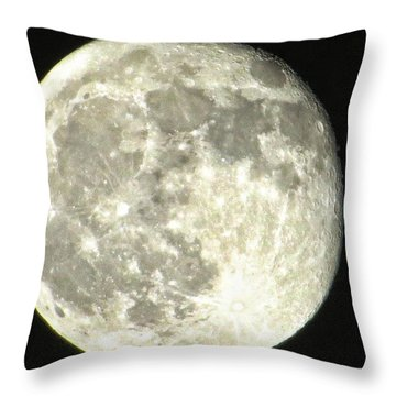 Full Moon Love Throw Pillow by Nikki McInnes