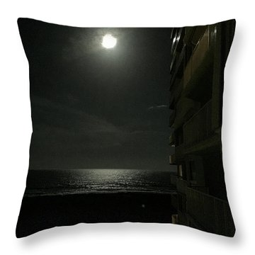 Full Moon Throw Pillow by Nance Larson
