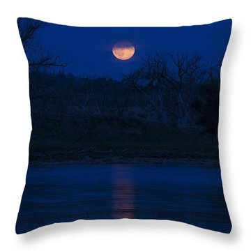 Full Moon Over The Tongue Throw Pillow