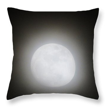 Full Moon Ring Throw Pillow