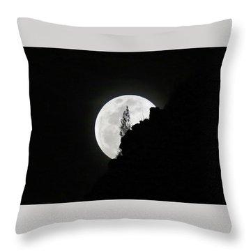 Full Moon Rising Over Makapu'u Throw Pillow
