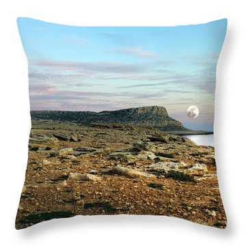 Full Moon Throw Pillow by Stelios Kleanthous