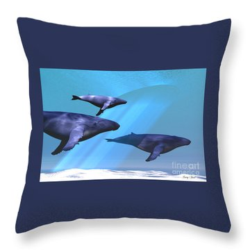 Full Of Light Throw Pillow by Corey Ford