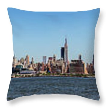 Full On New Yourk Throw Pillow by James Heckt