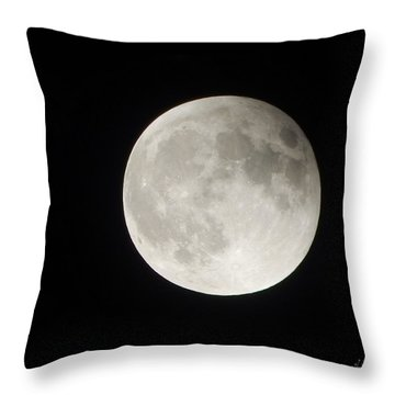 Full Planet Moon Throw Pillow
