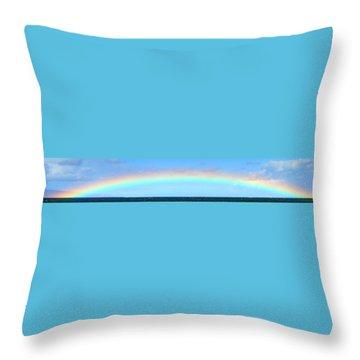 Full Rainbow Throw Pillow