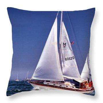 Full Sail Ahead Throw Pillow